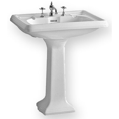 Whitehaus Collection China Large Traditional Pedestal with Dual Soap Ledges