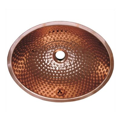 Whitehaus Collection Decorative Undermount Oval Ball Pein Hammered Textured Basin