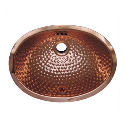 Decorative Undermount Oval Ball Pein Bathroom Sink - WH605CBM