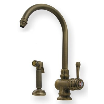 Evolution Colonial One Handle Single Hole Kitchen Faucet with Fluted Side Spray