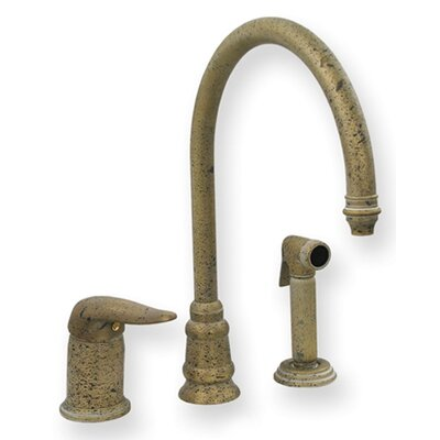 Evolution One Handle Widespread Kitchen Faucet with Side Spray