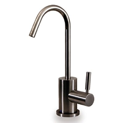 "Whitehaus Collection Forever Hot 6.875"" One Handle Single Hole Hot Water Dispenser Kitchen Faucet with Gooseneck Spout"