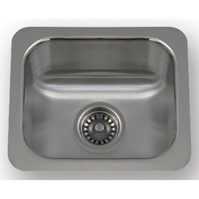"Whitehaus Collection New England 14.5"" x 12.5"" Undermount Small Semi Square Kitchen Sink"