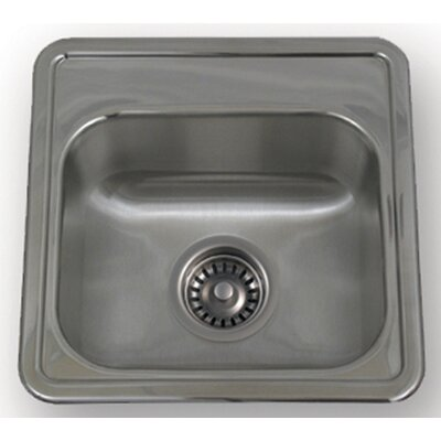"Whitehaus Collection New England 15"" x 15"" Drop-in Small Square Kitchen Sink"