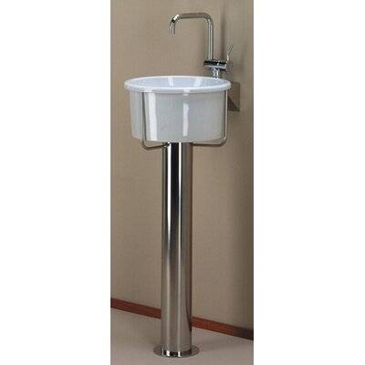 Whitehaus Collection New Generation Pedestal Bathroom Sink