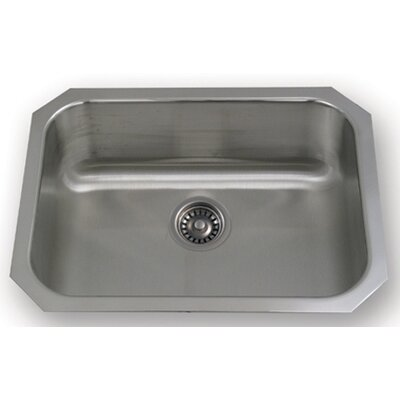 "Whitehaus Collection New England 23.5"" x 18.25"" Undermount Semi Square Kitchen Sink"