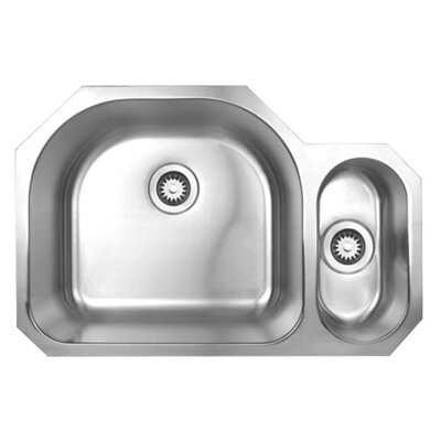 "Whitehaus Collection Noah's Chefhaus 20.875"" Double Bowl Undermount Kitchen Sink"