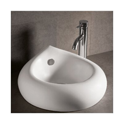 Isabella Teardrop Bathroom Sink with Overflow and Center Drain - WHKN1073