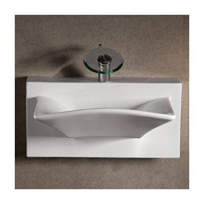 Isabella Bathroom Sink with Rectangular bowl and Integral Rear Center Drain - WHKN1114A