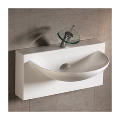 Isabella Bathroom Sink with U-shaped bowl and Integral Rear Center Drain - WHKN1114