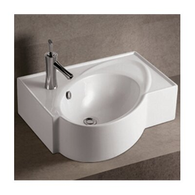 Isabella Above Mount Bathroom Sink with Overflow and Rear Center Drain - WHKN1129