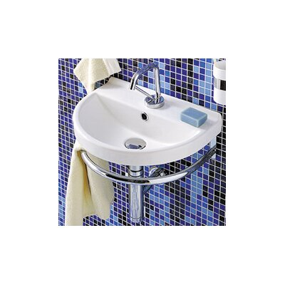 China U-Shaped Wall-Mount Bathroom Sink - LU004-WH