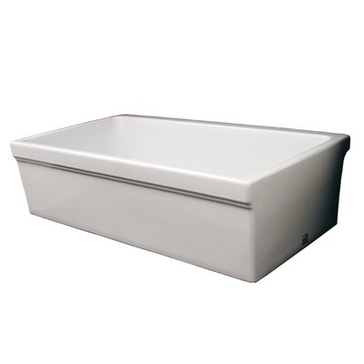"Whitehaus Collection FarmhausQuatro 30"" x 20"" Single Bowl Farmhouse Kitchen Sink"