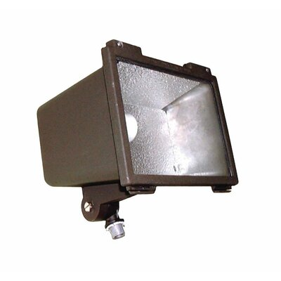 Deco Lighting 150W HPS 120v Small Flood Light with Post Top Fitter in Bronze