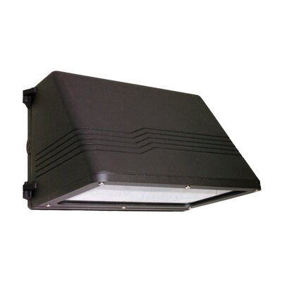 Deco Lighting 35w HPS 120v Medium Trapezoidal Cutoff Wall Light in Bronze
