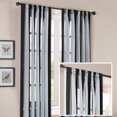Madison Park Brighton Wide Stripe Rod Pocket Sheer Curtain Single Panel