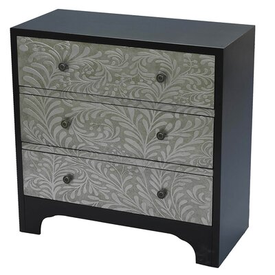 Stamped Scroll 3 Drawer Chest