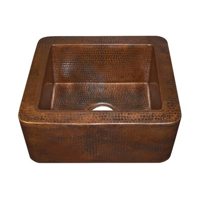 Native Trails, Inc. Cabana Hand Hammered Copper Apron Front Bar Sink