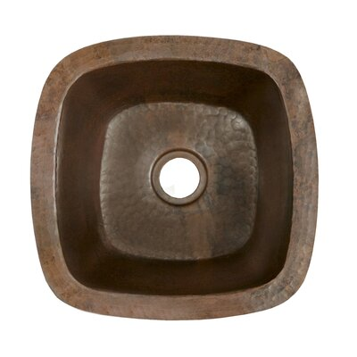 Native Trails, Inc. Small Square Hand Hammered Copper Bar Sink