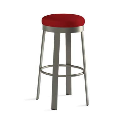 "Johnston Casuals Svinn 26"" Steel Counter Stool with Fabric Seat"