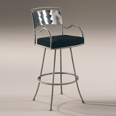 Johnston Casuals Armada Contemporary Swivel Barstool with Arms