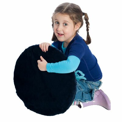 "Fun and Function 15"" Cushion Slipcover in Blue Fur"