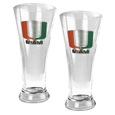 Great American Products NCAA 19oz Pilsner Glass 2 Piece Set