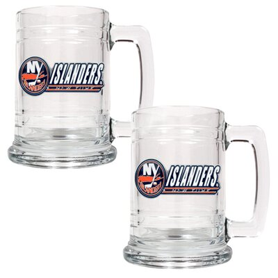 Great American Products NHL 15oz Glass Tankard 2 Piece Set