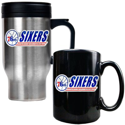 Great American Products NBA Travel Mug and Ceramic Mug (Set of 2)