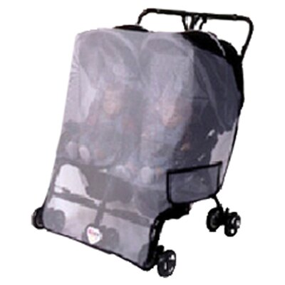 Generic Double Side by Side / Twin Stroller Sun, Wind and Insect Cover