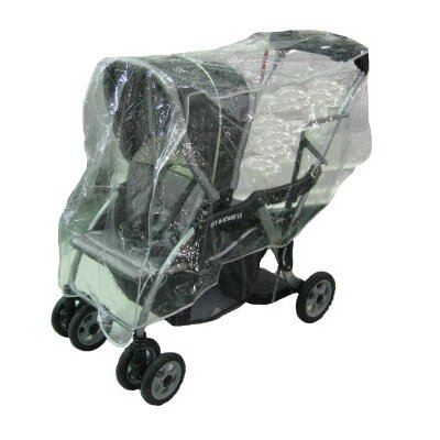 Sasha's Kiddie Products MiaModa Facile Twin Side by Side Stroller Rain and Wind Cover