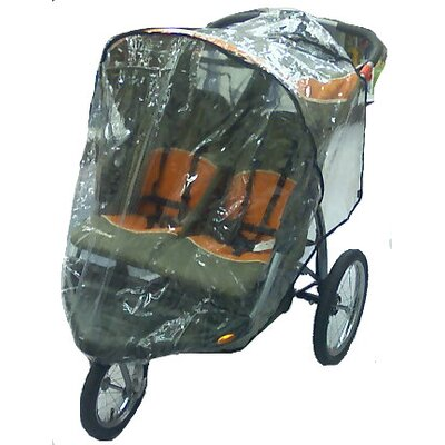 Sasha's Kiddie Products Baby Trend Front Swivel Wheel Double Expeditions Stroller Rain and Wind Cover