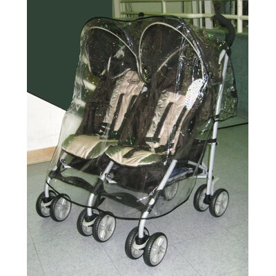 Sasha's Kiddie Products Graco Twin IPO Side by Side Double Stroller Rain and Wind Cover ...