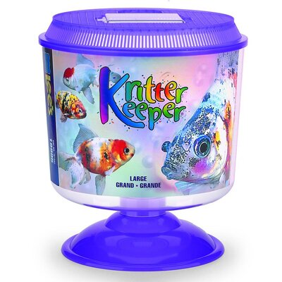 Lees Aquarium & Pet Kritter Keeper Round Fish Home