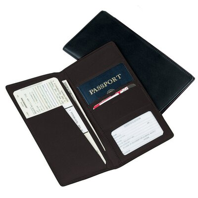 Royce Leather Art Passport Ticket Holder