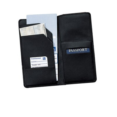Royce Leather Oversized Airline Ticket and Passport Holder