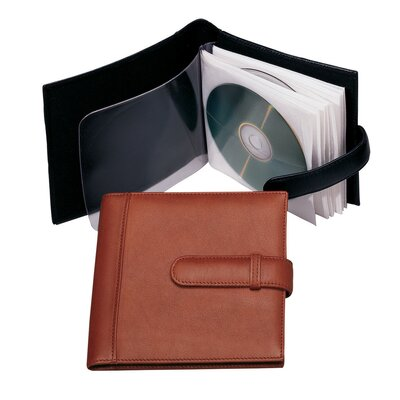 Royce Leather 10 CD Holder in Man-Made Leather