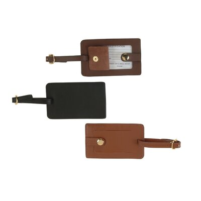 Royce Leather Nappa Snap Luggage Tag