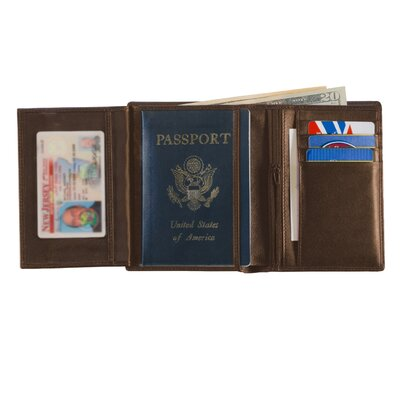 Royce Leather European Passport Leather Wallet