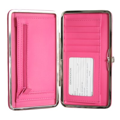 Royce Leather Ladies' Slim Framed Wallet