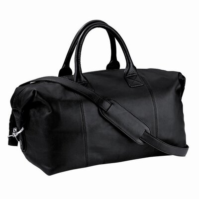 "Royce Leather 14"" Petite Leather Euro Travel Duffel"