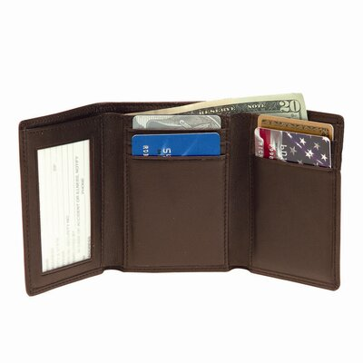 Royce Leather Men's Trifold Wallet with Double ID Windows