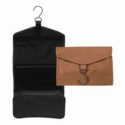 Royce Leather Man-Made Leather Hanging Toiletry Bag
