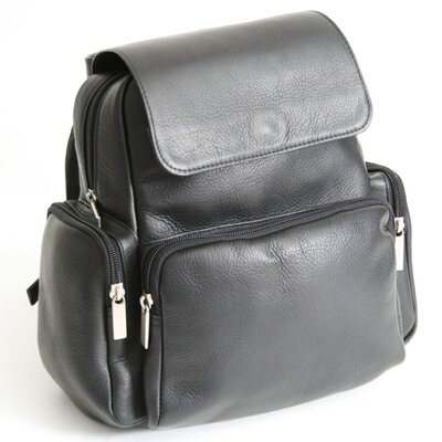 Royce Leather Vaquetta Nappa Knapsack in Black
