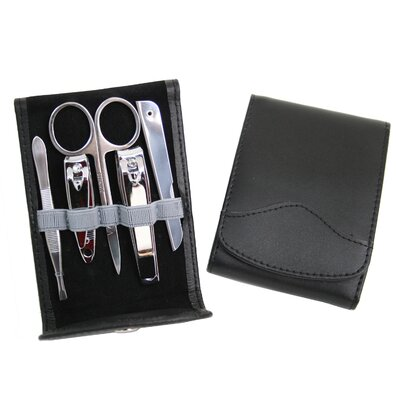 Royce Leather Flip Manicure Set