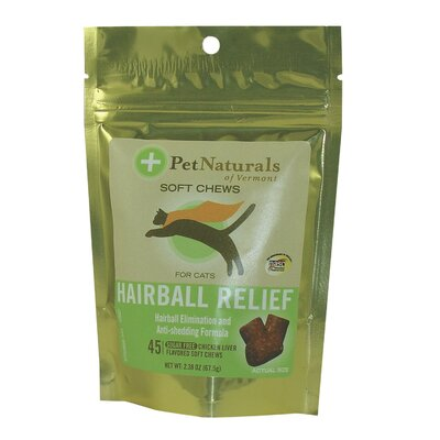 Pet Naturals of Vermont Hairball Relief Soft Chew for Cats (Pack of 45)
