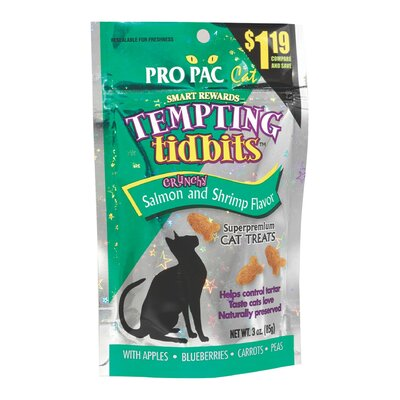 Pro Pac Tempting Tidbits Salmon/Shrimp Flavor CatTreat