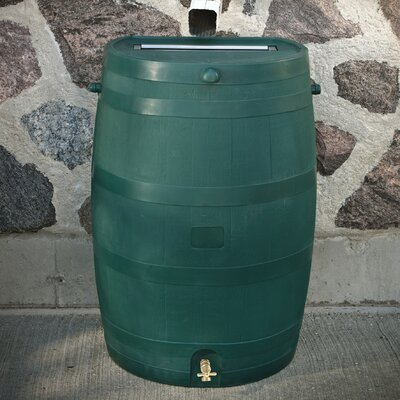 Flatback 50 Gallon Rain Barrel