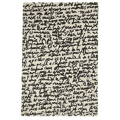 Nanimarquina Black On White Manuscrit Rug
