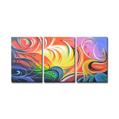 Segma Inc. Radiance Toya Canvas Art (Set of 3)